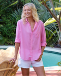 Eileen Button Up - Flamingo Voile