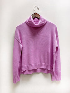 Turtleneck Sweater in Bright Orchid