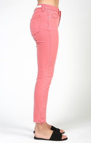 Carly Skinny Crop in Capitola Pink