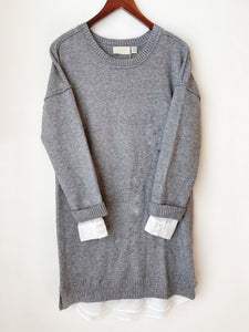 Gray Shirttail Sweater Dress