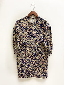 Leopard Print Sweatshirt Dress