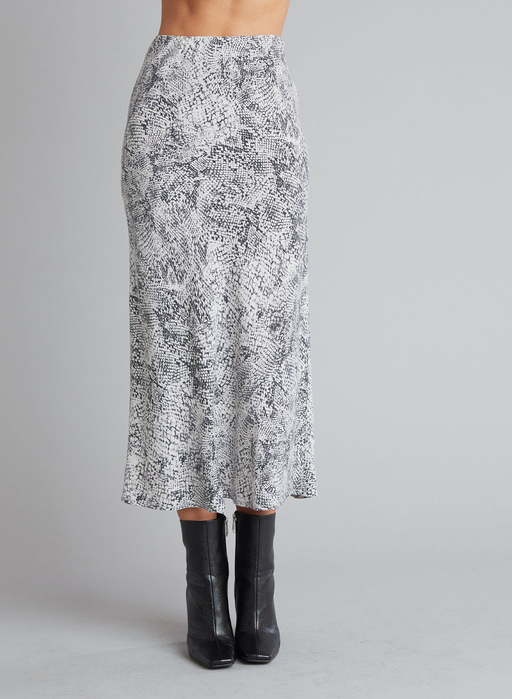 Midi Skirt in Moonstone Snake