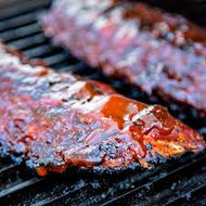 BBQ Rib Dinner  - Ribs, Potato Salad, Beans, Caesar Salad and Bread - Serves 4