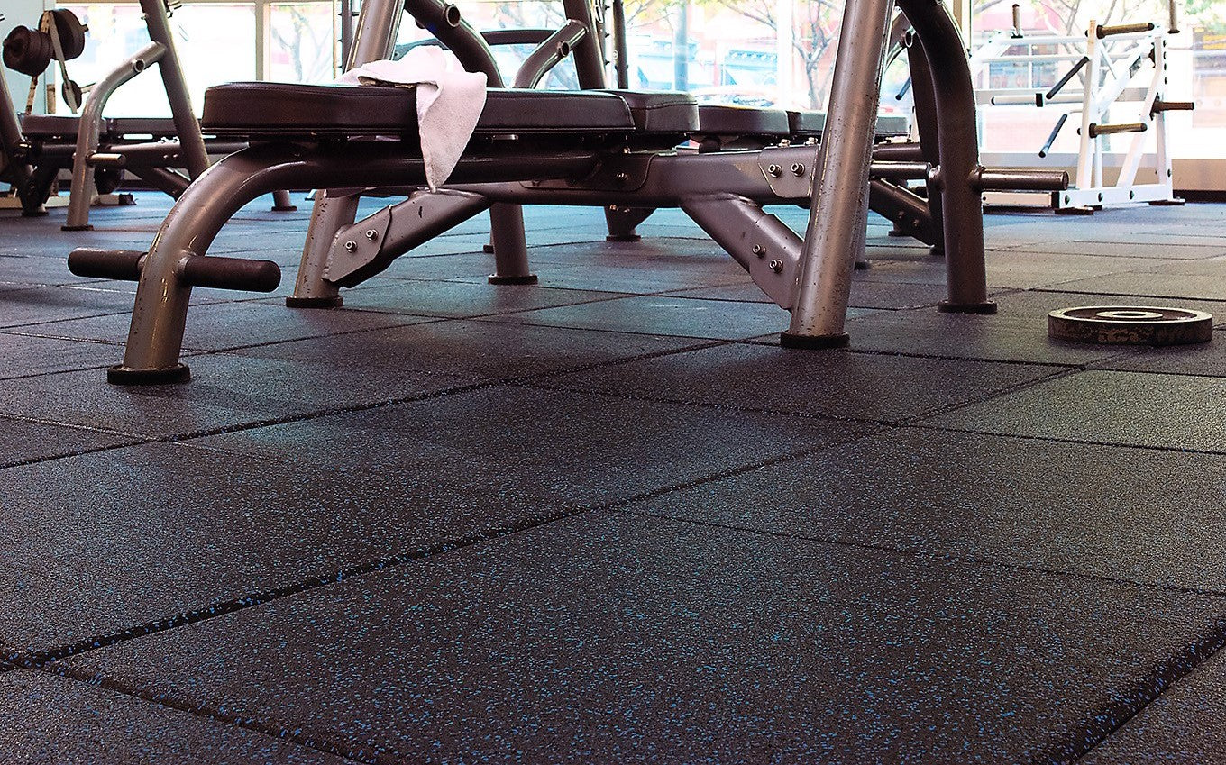 AktivPro Tiles installed in a weight room at Temple University.
