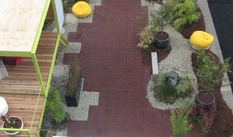 Rubber Patio Tiles, Rubber Deck Tiles, Rubber Playground Tiles