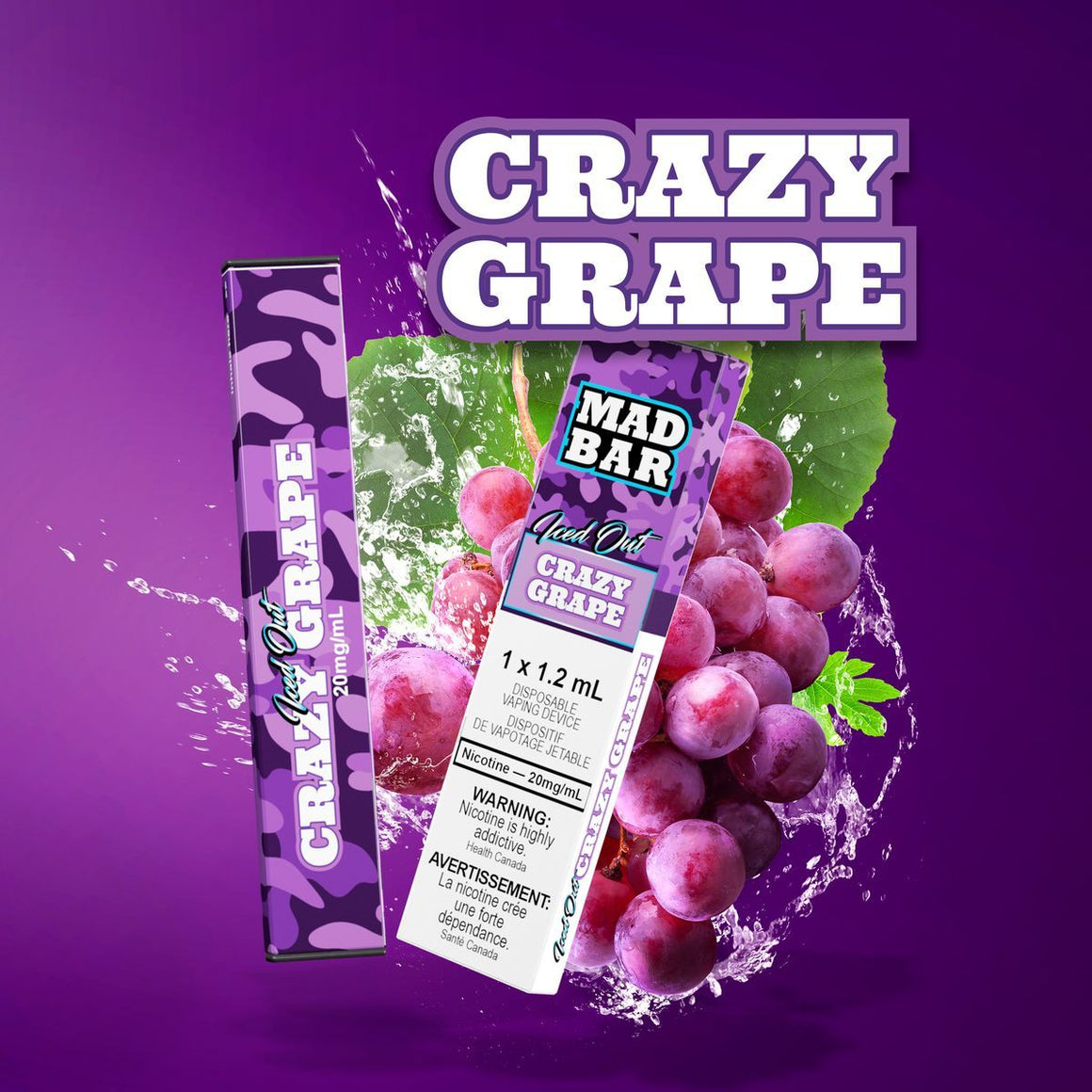 Mad Bar Disposable - Grape Iced