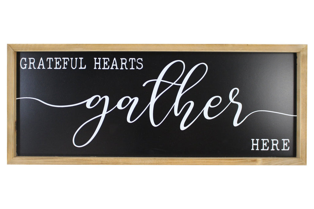 Grateful Hearts - wood framed wall art