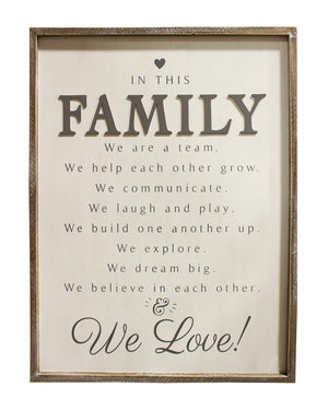 FAMILY - wooden wall plaque