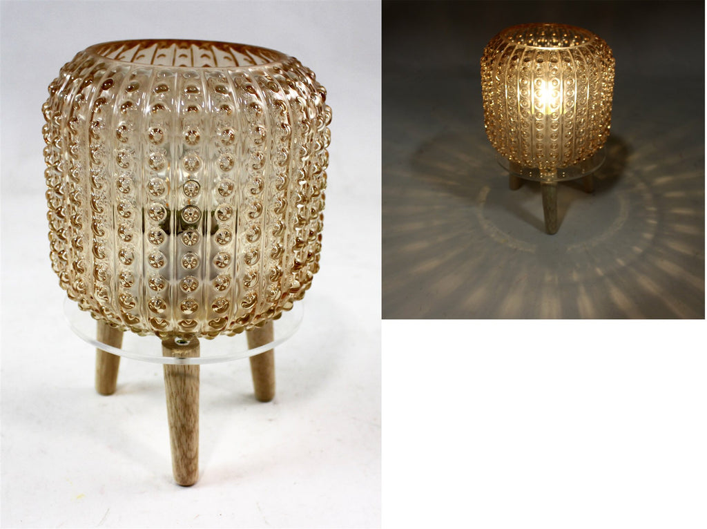Lantern Glass Lamp with Legs