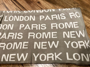 Throw Paris Rome London New York