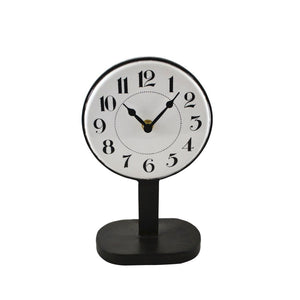 Black and White Table Clock