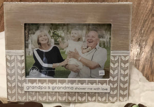 Frame Grandma & Grandpa Shower Me with Love