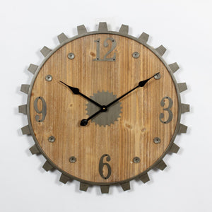 Clock - Gear and Bolt Wall Clock