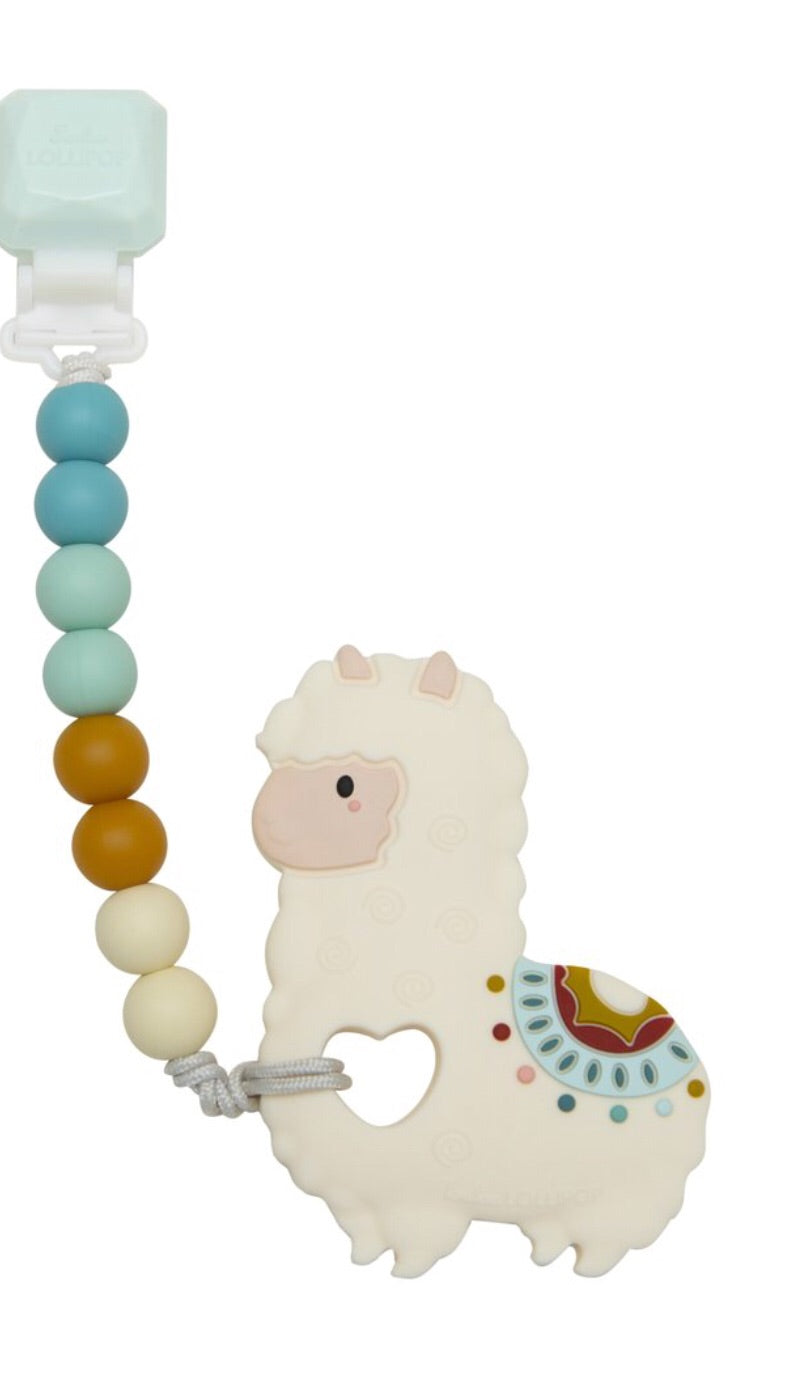 Silicone Teether  Llama Gem Set