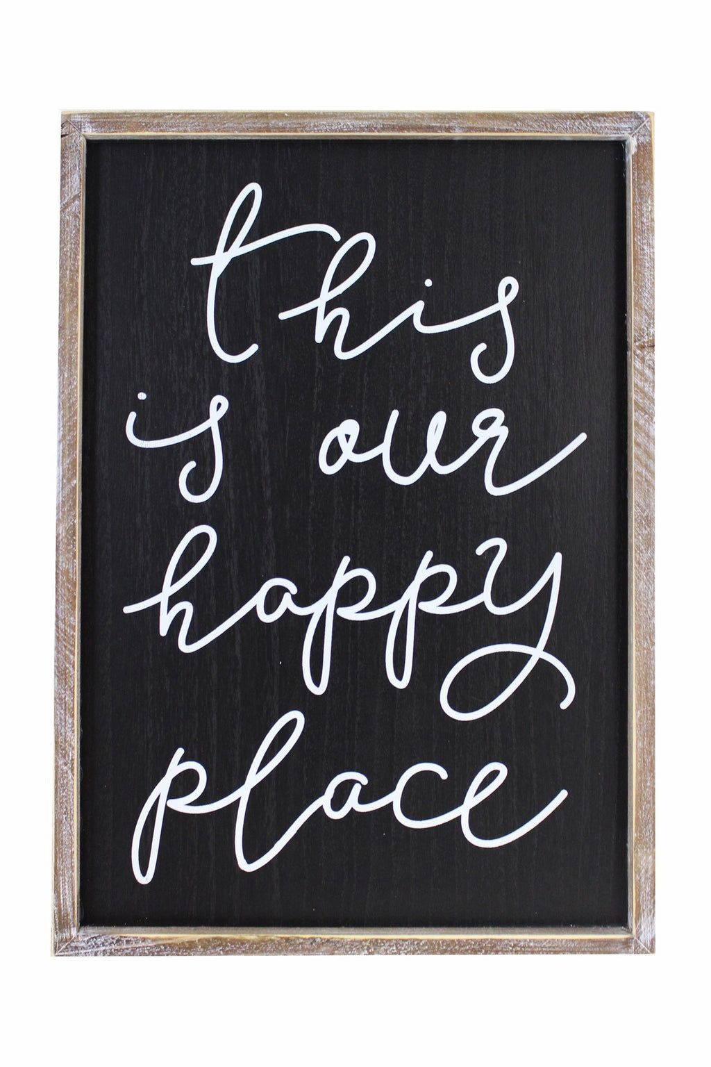 This is Our Happy Place Wood Plaque