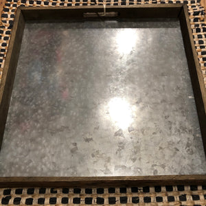 Decor Tray Metal and Wood