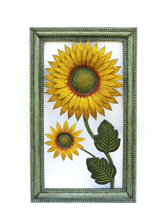 Large Metal Sunflower Wall Decor