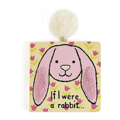 Jellycat Book If I Were a Rabbit Book Pink