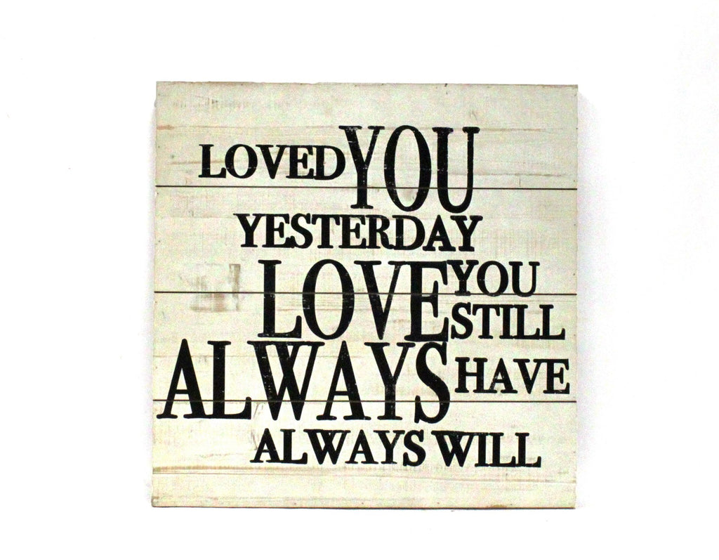 Wall Plaque I Loved You....