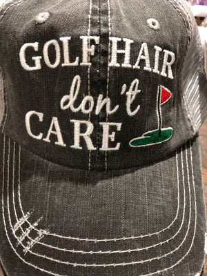 Hat Golf Hair Don't Care