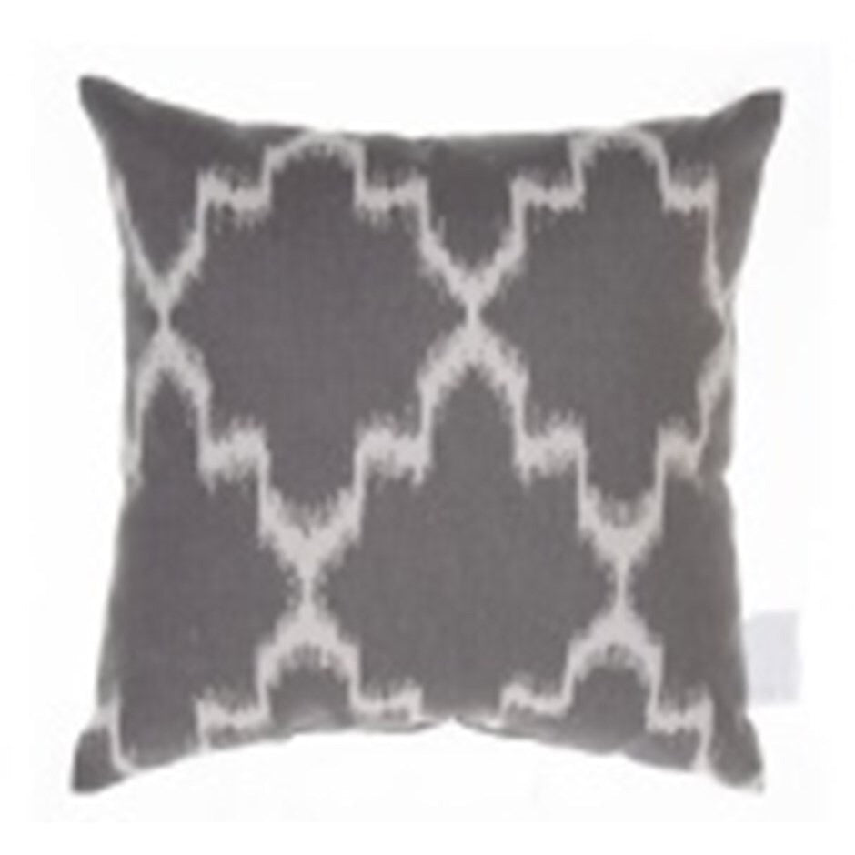 Grey and White Down Filled Cushion
