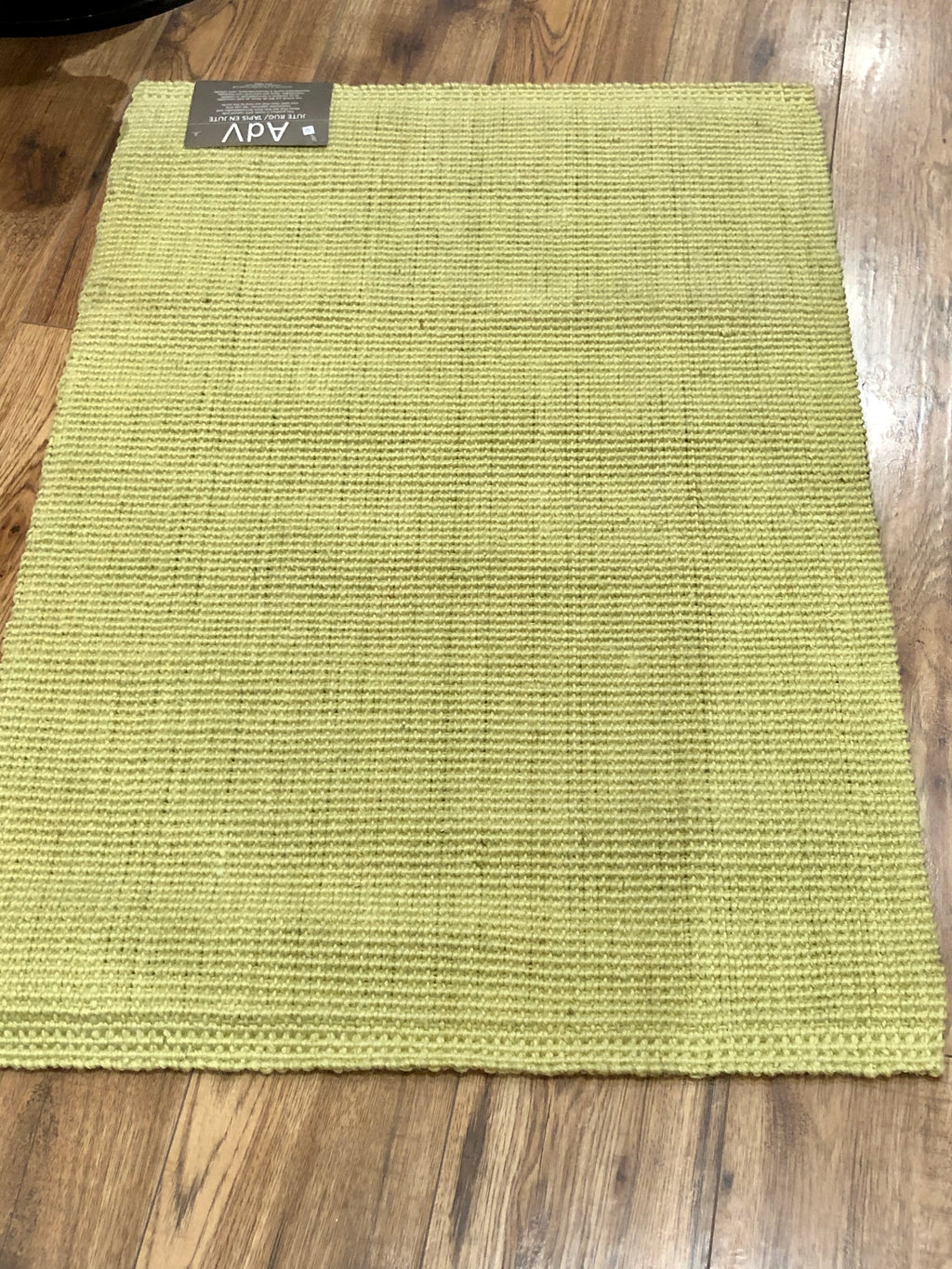 Rug Jute Boucle Light Green