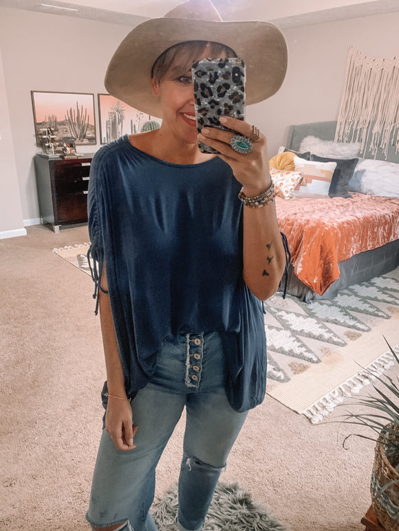 Faded Denim Top