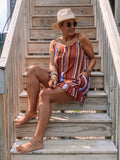 Boho Stripes Romper