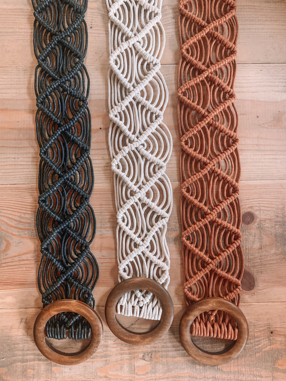 Woven Wooded Belt