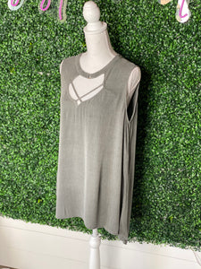 *BLU PEPPER Stone Green Tank-L*