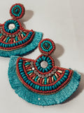 Turquoise and Coral Dreams Earring