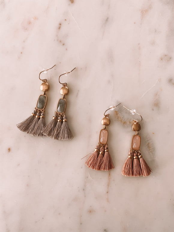 Tasseled Treasure Earrings
