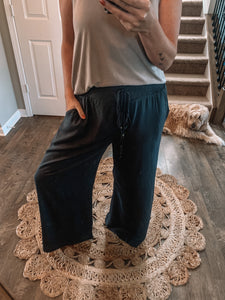 Embroidered Waist Pants