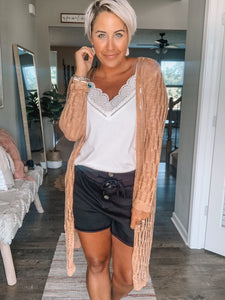 Rose Colored Cardi
