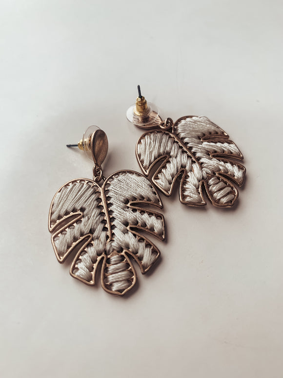 Palm Leaf Me Be Earring