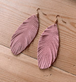 Pink Feather Earrings
