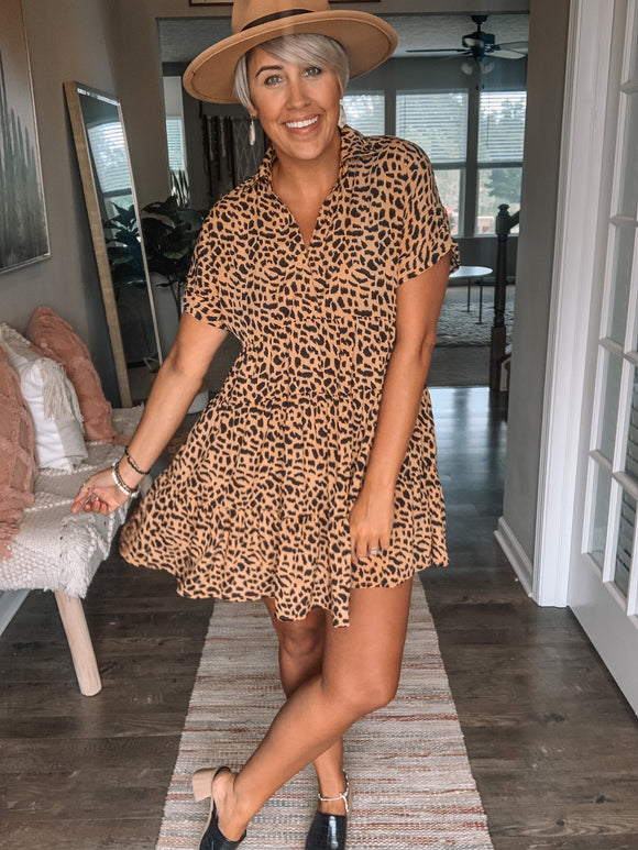 Leopard Layered Dress