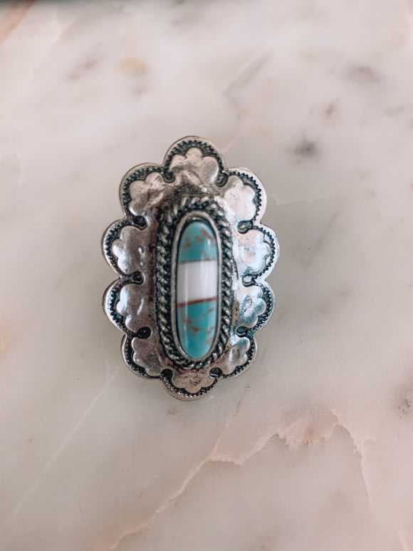 Turquoise Queen Ring