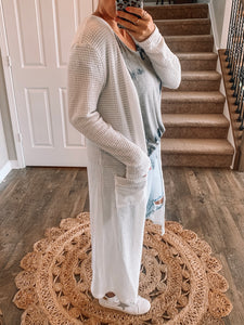 The Perfect Waffle Knit Cardi