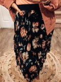 Black Out Floral Skirt