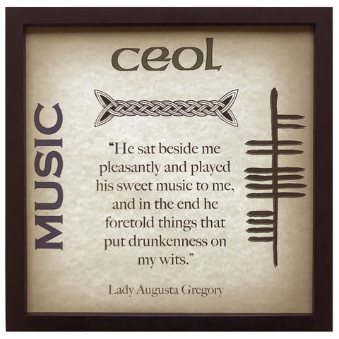 Music Ceol Lady Augusta Gregory Ogham Framed Print