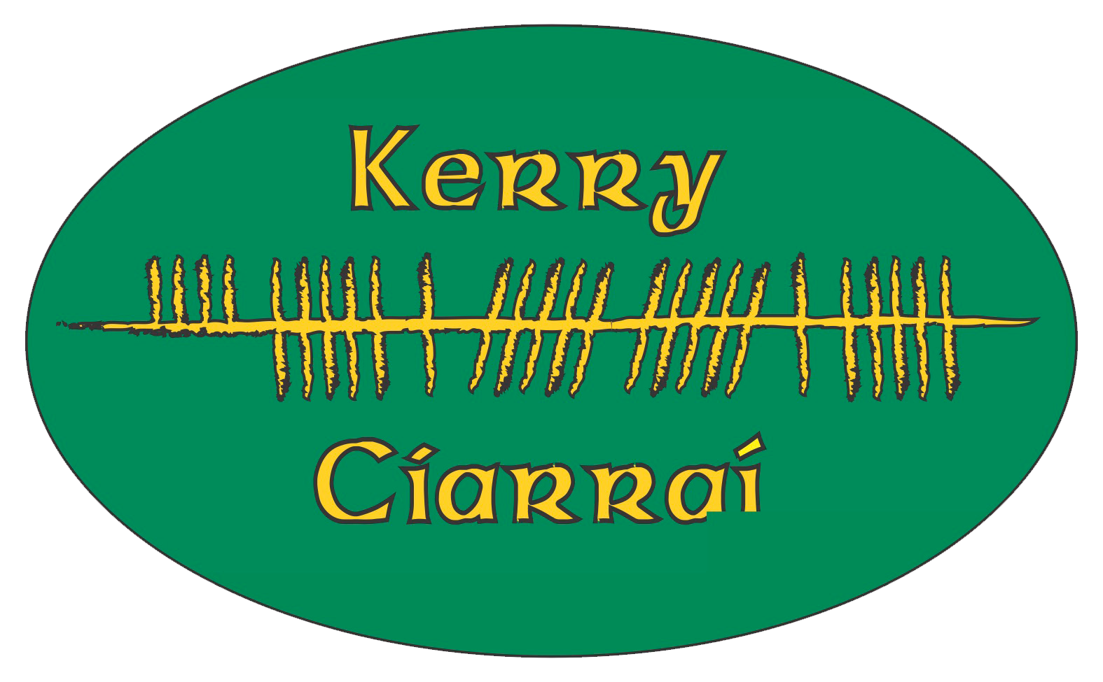 Ogham Art County Kerry Ireland Bumper Sticker