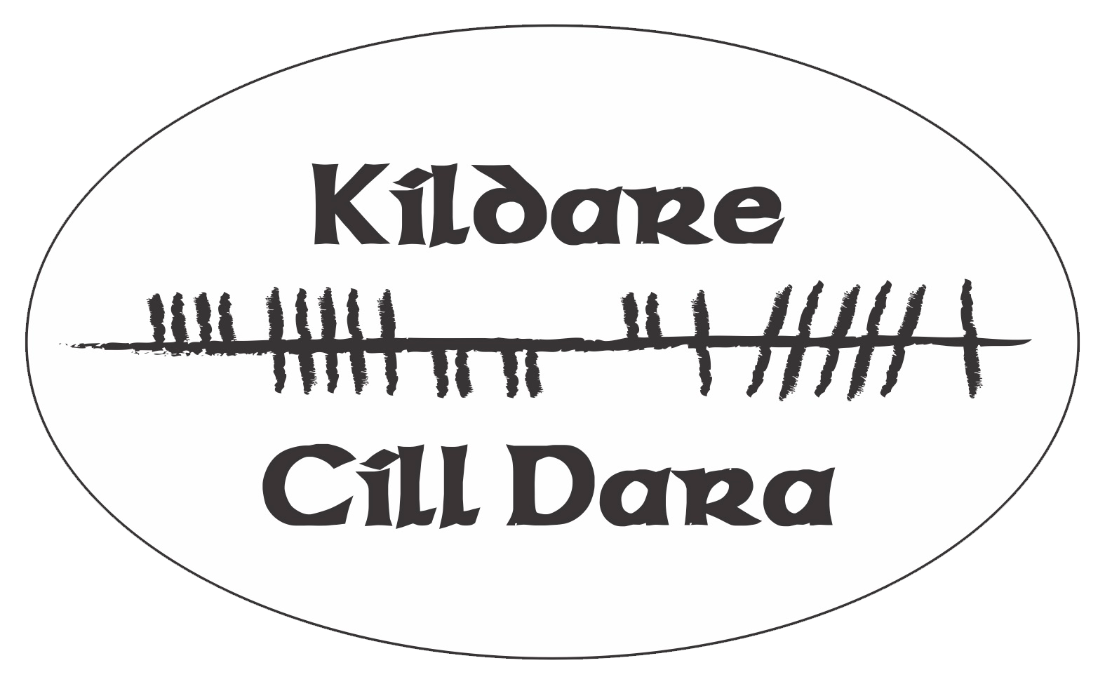 Ogham Art County Kildare Ireland Bumper Sticker