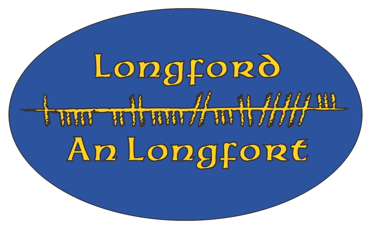 Ogham Art County Longford Ireland Bumper Sticker