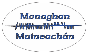 Ogham Art County Monaghan Ireland Bumper Sticker