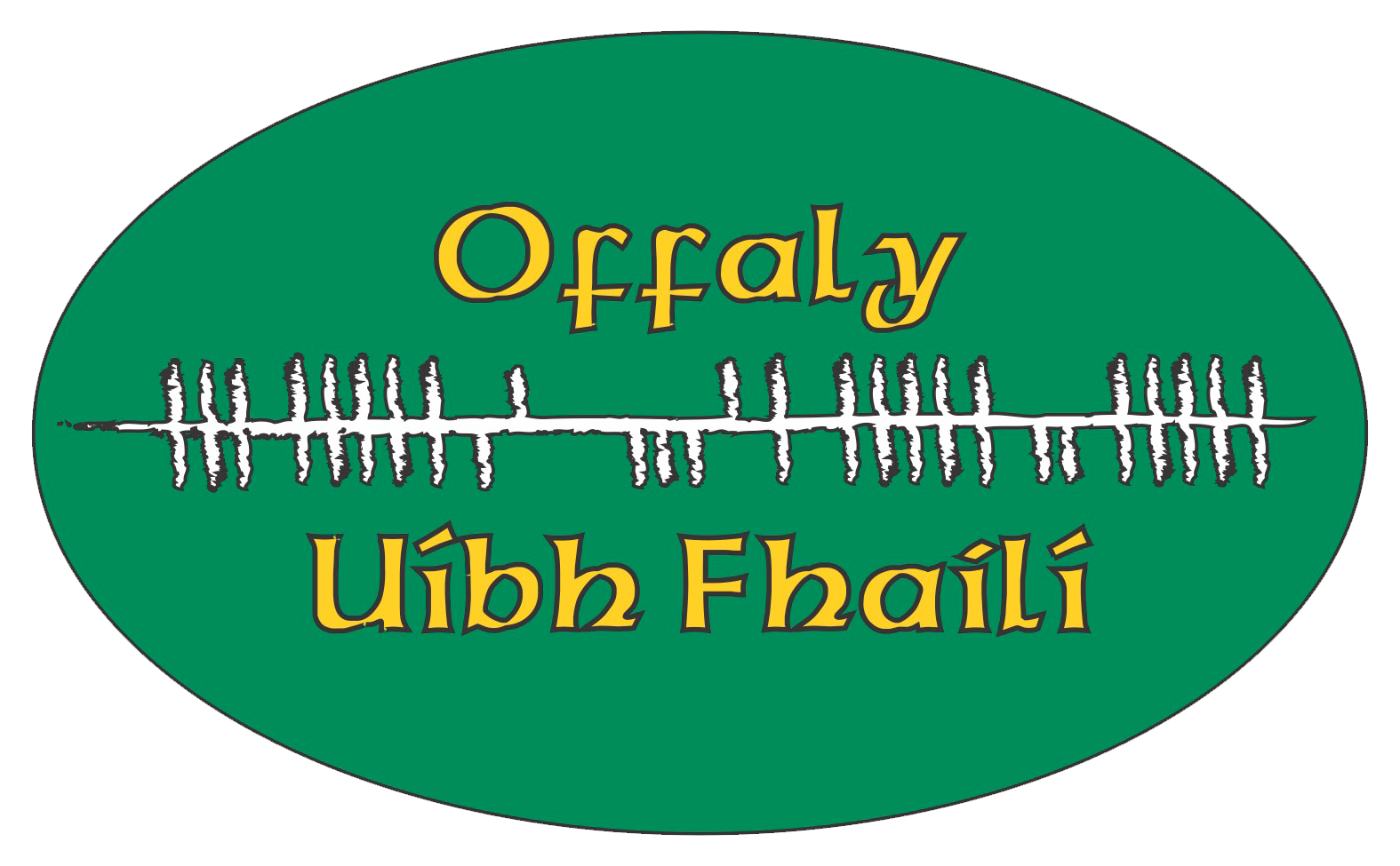 Ogham Art County Offaly Ireland Bumper Sticker