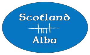 Ogham Art Scotland Alba Bumper Sticker