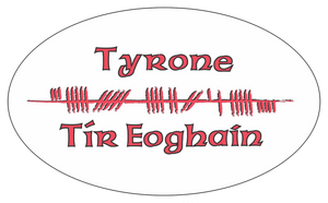 Ogham Art County Tyrone Ireland Bumper Sticker