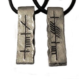 Ogham Art Anam Cara Soul Friend Pewter Pendant Set
