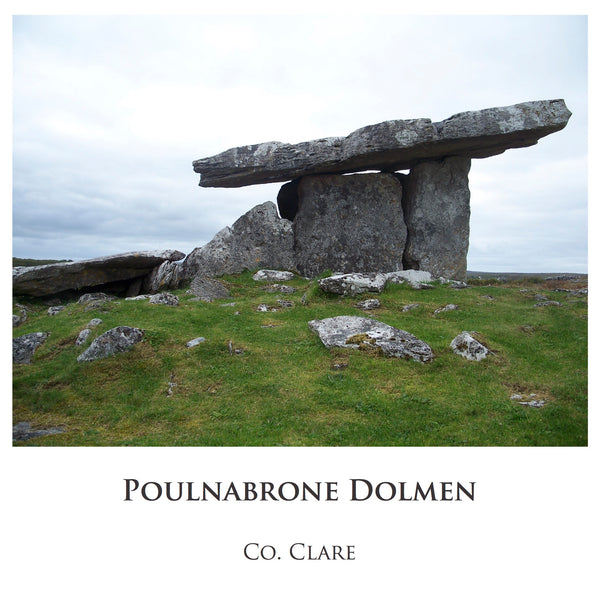 Ogham Art Images of Ireland Photo Cards Poulnabrone Dolmen